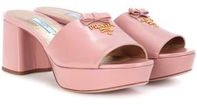 Prada Leather plateau sandals