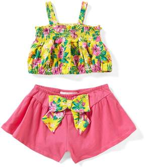 Rare Editions Baby Girls 12-24 Months Tropical-Printed Tank Top & Solid Shorts Set