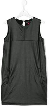 John Richmond Kids faux leather sleeveless dress