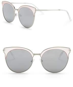 Quay Mia Bella 57mm Round Sunglasses