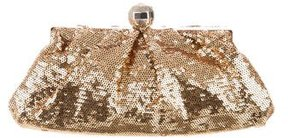 Kate Spade Margie Twirl Sequin Clutch - GOLD - STYLE
