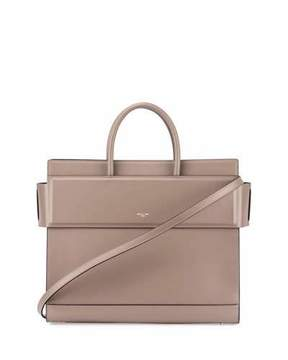 Givenchy Horizon Medium Leather Tote Bag, Taupe Gray