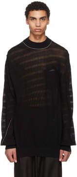 Sacai Black Twisted Knit Pullover