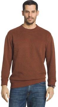 Arrow Big & Tall Classic-Fit Sueded Fleece Crewneck Sweater