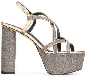 Jean-Michel Cazabat metallic platform sandals