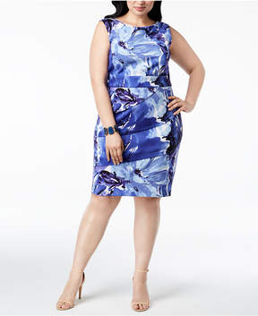 Connected Plus Size Floral-Print Tiered Dress
