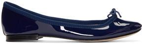 Repetto Blue Patent Cendrillon Ballerina Flats