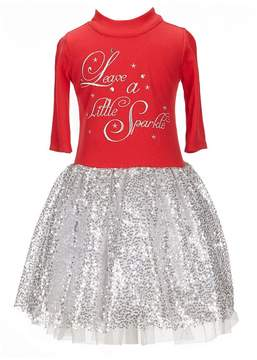 Bonnie Jean Little Girls 2T-6X Leave A Little Sparkle Fit-And-Flare Dress