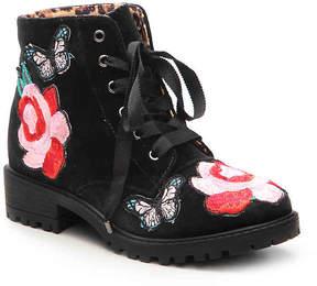 Steve Madden Girls Nancy Youth Velvet Boot