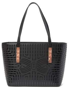 Ted Baker Breeana Cut Out Bow Leather Shopper