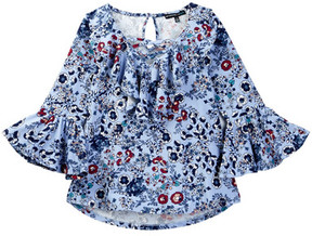 My Michelle mymichelle Printed Bell Sleeve Top (Big Girls)