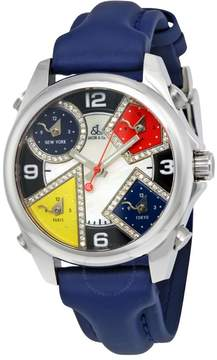 Jacob & co Jacob and Co. Five Time Zones Mother of Pearl Diamond Dial Men's Watch JCM-4DA