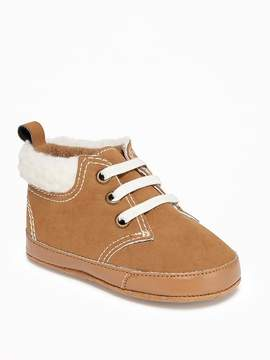 Old Navy Sueded Faux-Shearling Slip-Ons for Baby