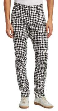 G Star 3D Tapered Houndstooth Cotton Jeans