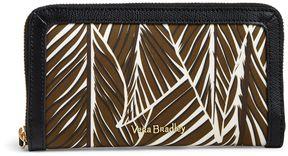 Vera Bradley RFID Georgia Wallet - BANANA LEAVES BROWN WITH BLACK - STYLE