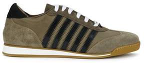 DSQUARED2 Men's Green Leather Sneakers.
