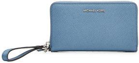MICHAEL Michael Kors Leather Wristlet - BLUE - STYLE