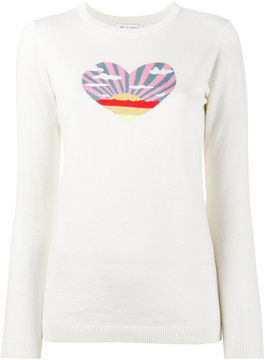 Bella Freud Sunset Heart intarsia jumper