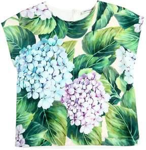 Dolce & Gabbana Hydrangea Printed Cotton Shirt