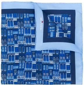 Kiton window print handkerchief