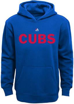 Majestic Kids' Chicago Cubs Wordmark Fleece Hoodie, Big Boys (8-20)