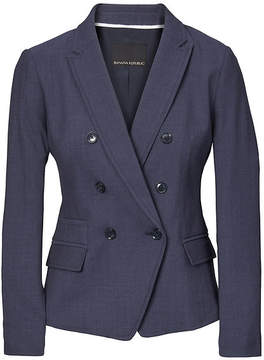 Banana Republic Double Breasted-Fit Lightweight Wool Blazer