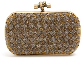 Bottega Veneta Knot crystal-embellished clutch