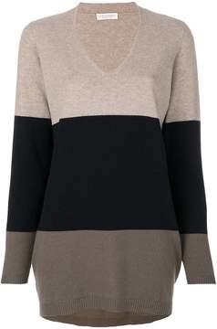 Le Tricot Perugia striped v-neck sweater