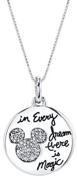 Disney Sterling Silver In Every Dream Mickey Mouse Pendant with Diamond Accents