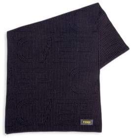 Fendi Striped Wool Infinity Scarf
