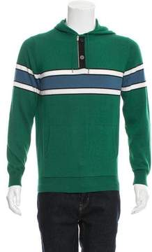 Hermes Striped Cashmere-Blend Sweatshirt