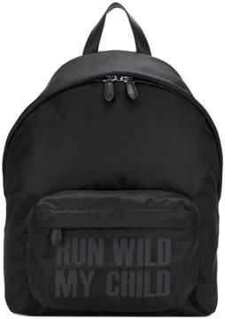 Givenchy slogan print backpack