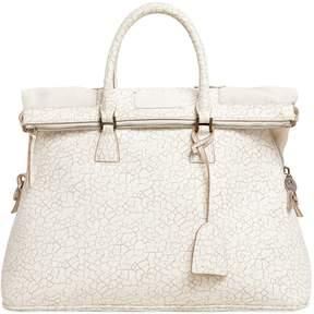 Maison Margiela Crackled Effect Leather Top Handle Bag