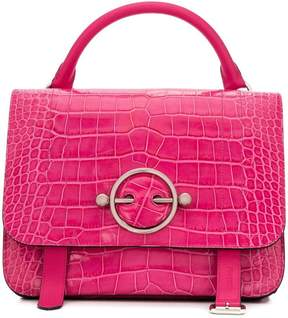 J.W.Anderson large Disc snakeskin-style bag