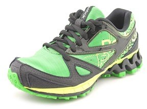 Reebok Zigkick Trail 1.0 Youth Round Toe Synthetic Green Running Shoe.