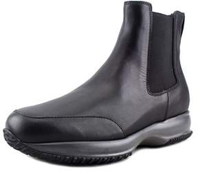 Hogan Interactive Stivaletto Elastico Round Toe Leather Ankle Boot.