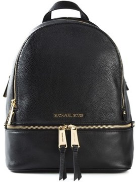 Michael Kors Women's Black Leather Backpack. - BLACK - STYLE