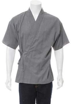 Louis Vuitton V-Neck Tie Accented Kimono