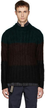 Kolor Brown Mohair Crewneck Sweater