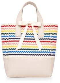 Loeffler Randall Ribbon Shopper Canvas Tote