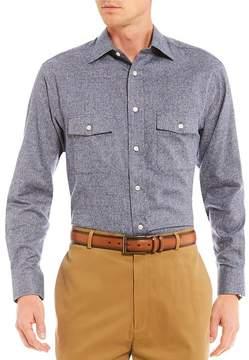 Daniel Cremieux Signature Solid Jasper Long-Sleeve Woven Shirt