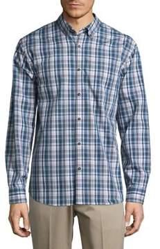Black & Brown Black Brown Plaid Button-Down Cotton Shirt