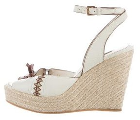 Louis Vuitton Leather Bow-Accented Espadrilles