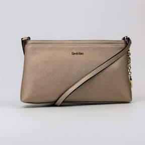 Calvin Klein Saffiano Leather Medium Crossbody Rose Gold
