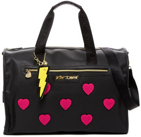 Betsey Johnson Collegiate Heart Weekend Bag