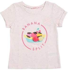 Billieblush Banana Split Print Cotton Jersey T-Shirt