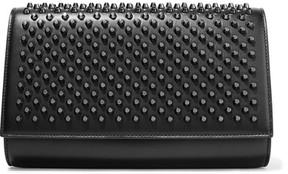 Christian Louboutin - Paloma Studded Leather Clutch - Black