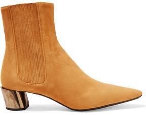 Jil Sander Suede Chelsea Boots - Mustard