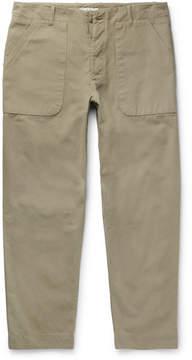 Folk Cotton-Canvas Trousers