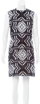 Edun Geometric Patterned Shift Dress